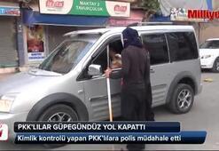 PKKlılar yolda kimlik kontrolu yapmaya kalkıştı