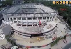 Vodafone Arenanın çatısı hazır
