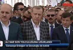 Erdoğan ve Davutoğlu, Ali Nar'ın cenazesine katıldı