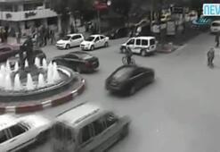 Afyonda yaşanan kazalar kamerada