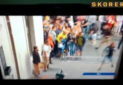 Yangın çıkartıp, kameraman dövdüler...