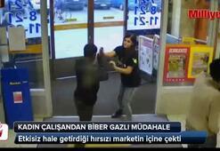 Hırsızı etkisiz hale getirip, markete sürükledi