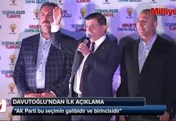 Ahmet Davutoğlundan ilk açıklama