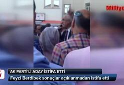 AK Partili aday istifa etti