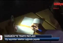 Trafo patladı, sayım telefon ışığında yapıldı