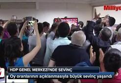 HDP Genel Merkezinde sevinç