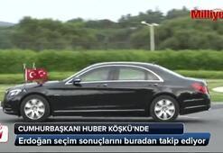 Cumhurbaşkanı Erdoğan Huber Köşkü'nde