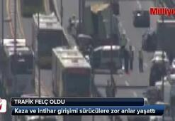 İstanbulda trafik felç oldu