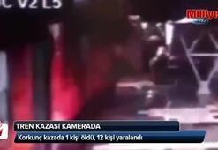 Tren kazası kamerada