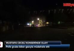 Mustafa Ceceli konserinde olay