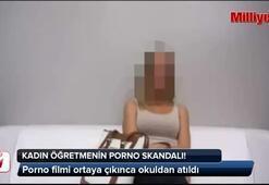 Kadın öğretmenin porno skandalı