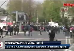 Beşiktaşta polis müdahalesi