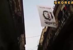 Küba sokaklarında açılan Beşiktaş bayrağı