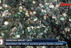 Atlantikten 50 milyon euroluk gümüş hazine çıkarıldı