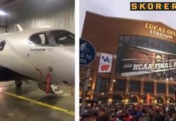 Sporcuları taşıyan uçak düştü
