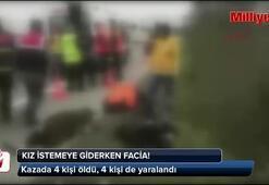 Korkunç kaza 4 ölü, 4 yaralı