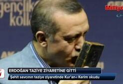 Erdoğan, şehit savcının evinde Kur'an okudu
