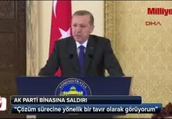 Erdoğandan saldırıyla ilgili açıklama