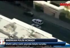 Polis, şüpheliyi canlı yayında vurdu