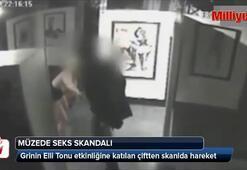 Müzede sevişen çift kameraya yakalandı