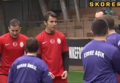 Galatasaraylı eski futbolculardan anlamlı maç