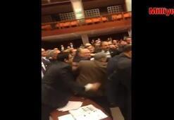 Meclisteki kavganın ilk görüntüleri...