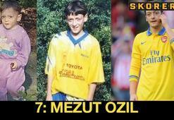 Futbol yıldızlarının çocukken...