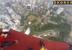 365 metreden böyle düştü