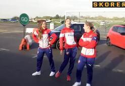 Arsenalin yıldızlarına kadın şoför şoku