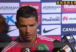 Ronaldo mağlubiyetin acısını gazeteciden çıkardı..