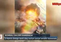 Bombalı saldırı kamerada
