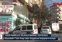 Ataşehirde market soygunu