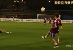 Bayern antrenmanında şov var şov