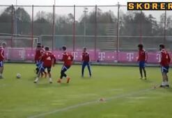 Bayern antrenmanında ortada kalan yandı