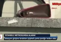 Metro istasyonunda şüpheli çanta alarmı