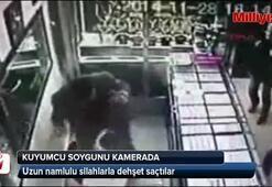 Uzun namlulu silahlarla kuyumcu soygunu kamerada