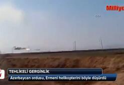 Azerbaycan ordusu, Ermeni helikopterini böyle düşürdü