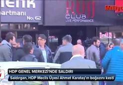 HDPli üyeye parti genel merkezinde bıçaklı saldırı