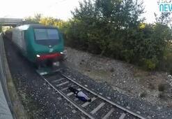 Tren yolunda ölüm oyunu