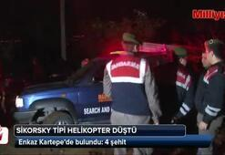 Sikorsky tipi helikopter düştü: 4 şehit