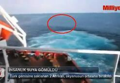 Türk gemisine saklanan 2 Afrikalı, okyanusun ortasına bırakıldı
