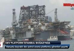 Dev platform İstanbul Boğazında