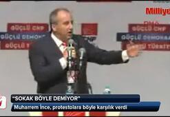 CHP kurultayında İnce protesto edilince...