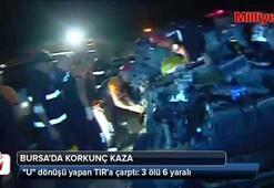 Bursa'da korkunç kaza: 3 ölü, 6 yaralı