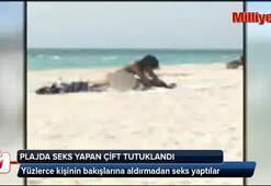 Plajda seks yapan çift tutuklandı