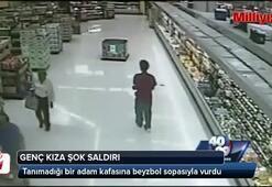 Genç kıza markette şok saldırı