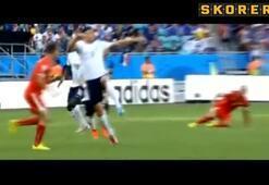 Fransa maçında korku dolu anlar