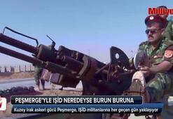 Peşmergeyle IŞİD neredeyse burun buruna