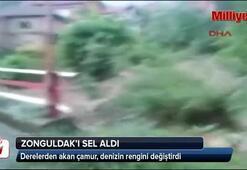 Zonguldakı sel aldı