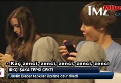 Justin Bieber'dan ırkçı şaka